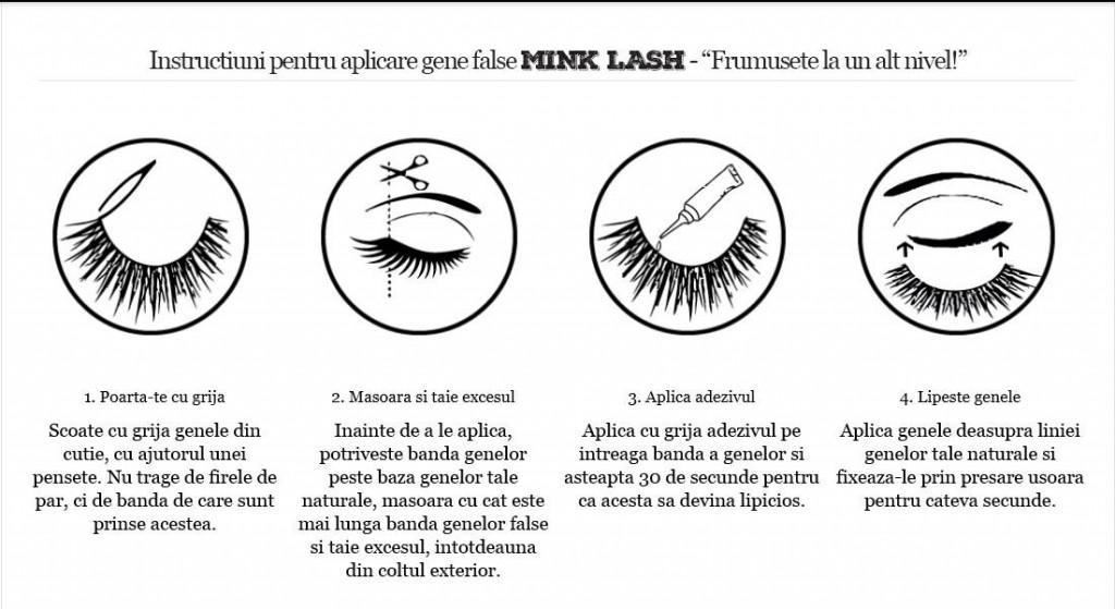 Daca este prima data cand doresti sa iti aplici o pereche de gene false MINK LASH, citeste cu grija instuctiunile de mai jos