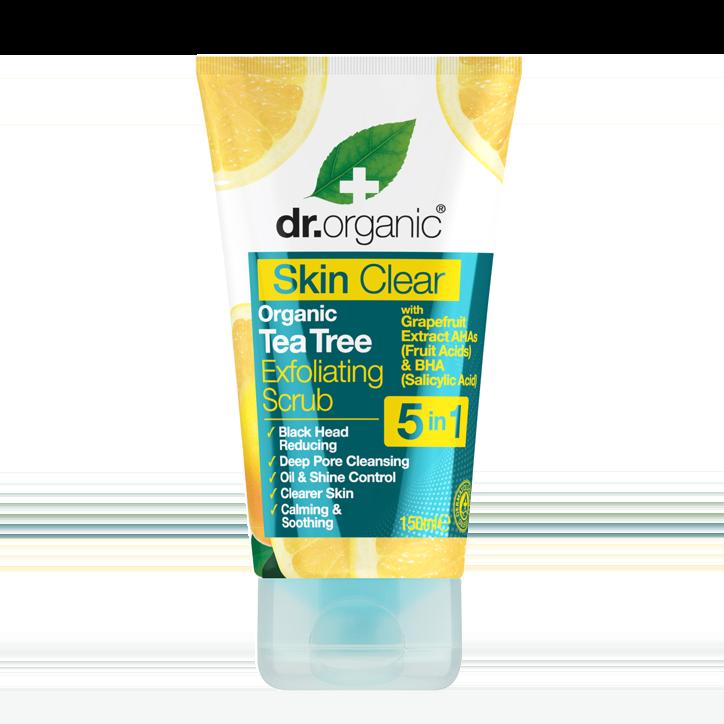Exfoliant cu Tea Tree dr Organic